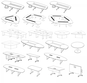 Eventi Table Shapes