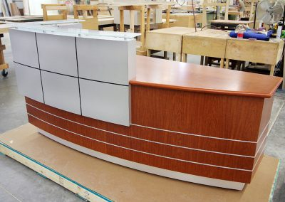 Reception Desk ready for shipment
