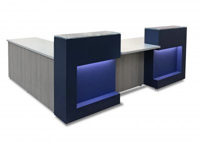Reception Station: Glass transaction tops & LED lights | List Price as Shown: $38,404