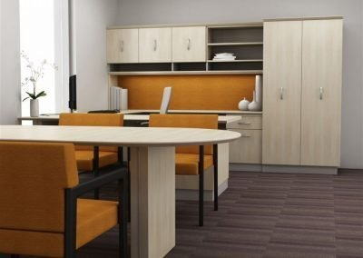 Americana office suite with u-shape desk
