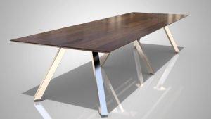 LEEZA Chrome base table